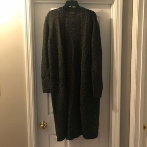 Long Dark Gray Sweater from Forever 21